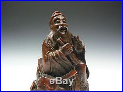 1800's Qing Fine Rare Set Antique Chinese 4 Immortals carved Bamboo