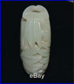 19th CENTURY CIRCA 1800 FINE CHINESE JADE ORNAMENT CARVING