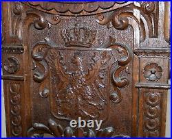 19th century German oak BEER barrel stand finely hand-carved ex BISMARCK museum