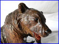 ABSOLUTE RARE BEAR SWISS VERY FINE CARVING BLACK FOREST 1880's