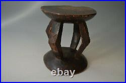 AFRICAN TRIBAL ART fine old carved stool head rest