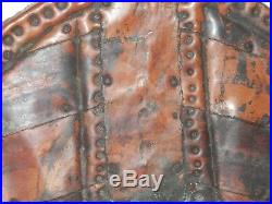 ANTIQUE AFRICAN Fine Folk Art Primitive WOOD & COPPER SCULPTURE Carving artwork