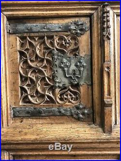 A Fine And Rare French Gothic Carved Oak Dressoir Late 15th/Early 16th Century