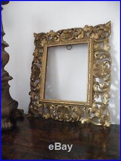 A Fine Antique Ornate Hand Carved Pierced Gilt Florentine Picture/mirror Frame