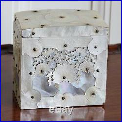 A Fine Quality 19th Century Chinese Carved Mother Of Pearl Tea Canister, c. 1860