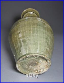 A Very Fine Early Korean Carved Koryo Greenish Celadon Bottle Vase-11th C
