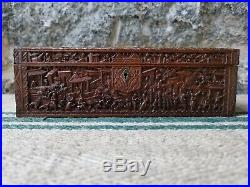 A Very Finely Carved Sandalwood Box