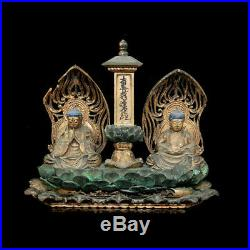 A fine Japanese Buddhist wooden shrine carving y2877