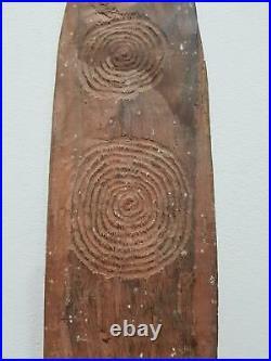 Aboriginal Finely Carved Old Bullroarer Desert Message Stick
