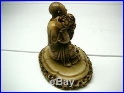 Absolutely gorgeous Chinese soapstone carving of lohan fine detail signed 20th C