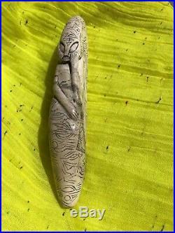Ancient Pre-Columbian Ojuelos de Jalisco Alien Smoking Pipe FINE Carving