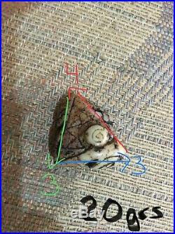 Ancient Pre-Columbian Ojuelos de Jalisco Alien Space Craft FINE CARVING Pendant