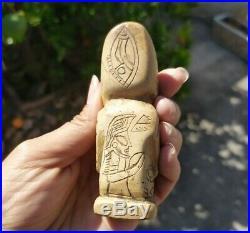 Ancient Pre-Columbian Ojuelos de Jalisco Alien Statue Artifact FINE CARVING