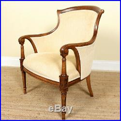 Antique Armchair Fine Quality Carved Oak Lounge Salon Chair