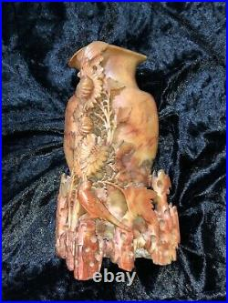 Antique Carved FINE Chinese Soapstone Vase likely 1890's through 1910's