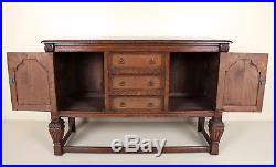 Antique Carved Oak Sideboard Credenza Fine Quality Arts & Crafts Country