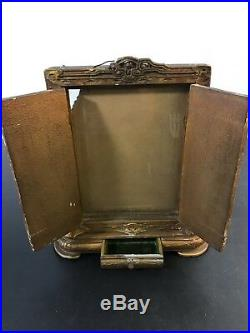 Antique Carved Window Picture Frame Wood Standing Ancestor Frame Chinese