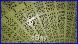 Antique Chinese Filigree Fan Qing Estate 19thc Hand Carve 1800s Bovine Bone Fine