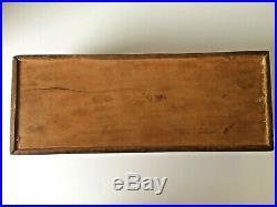 Antique Chinese Wooden Fine Carved Pictorial Long Jewelry Box