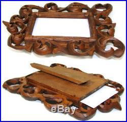 Antique Edwardian Era Carved Wood Carte d'Visite Sized 7.75 Picture Frame