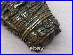 Antique European Finely Carved Wooden Box