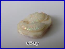 Antique Fine Carved Australian Opal Roman Warrior Cameo