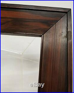 Antique Fine Carved Rosewood Mahogany Kingwood Picture Frame 8 1/2x 7 1/4