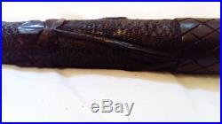 Antique Irish Carved Bog Oak Fishing Priest Fine Quality Piece
