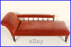 Antique Victorian Chaise Longue Sofa Carved Beech Fine Quality