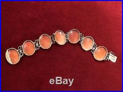 Antique Victorian Finely Carved 7 Graces Shell Cameo & 14k Gold Bracelet