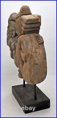 Antique Wooden Erotic Man Woman Figurine Original Old Fine Hand Carved
