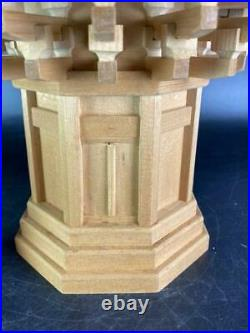 Buddhist Art Have Name. Wood Carving Tower Objects Fine Work Bonus Statue Of