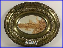 C1880s fine CORK model of castle ex BISMARCK collection finely carved