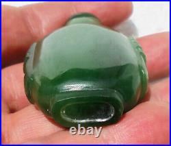 CINA (China) Fine Chinese Nephrite jade carved snuff bottle