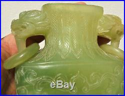 CINA (China) Fine Chinese vase carved in serpentine (no jade)