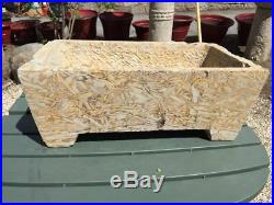 China Fine Unusual Hand-Carved Footed Puddingstone Planter Basin