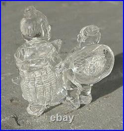 Chinese Carved Rock Crystal group figure Man & Boy Fine Quality Republic Period
