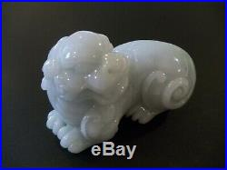 Chinese Finely Carved Jade Temple Lion Okimono C1900