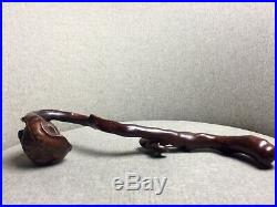 Chinese Japanese Antique Scholar Object Carving 19th C Wood Ruyi Fine Asian Art