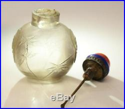 Chinese Rock Crystal Fine Hand Carved Snuff Bottle, 19th Century