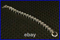 Chinese old 100% fine 925 Silver Hand Carved noble bracelet decorate gift