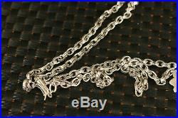Chinese rare 100% fine 925 Silver Hand Carved cruciate flower necklace gift