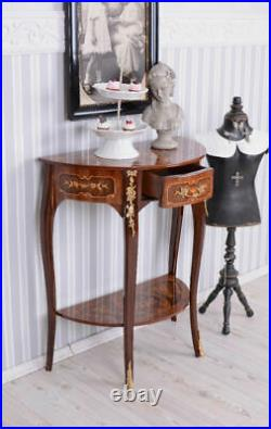 Console Table Baroque Carvings Fine Woods Side Table Antique