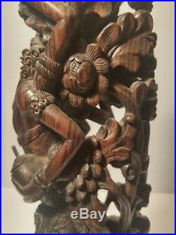 Exquisite Indonesian Wood Carving Extraordinary Detail Vintage Bali Fine Art
