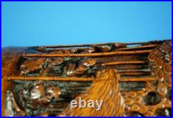 Extremely FINE Chinese Hand Carved Bamboo Brush Pot