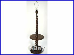 Extremely Fine Antique French Carved Barley Twist Standing Lamp Side Table
