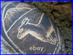 FINELY CARVED ABORIGINAL ART BOAB NUT CARVING BUSH TURKEY ANT HILLS and KANGAROO