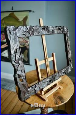 FINE ANTIQUE CARVED PICTURE FRAME 18X11 REBATE vARTS & CRAFTS ORIENTAL CHINESE