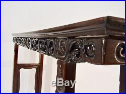 FINE ANTIQUE CHINESE CARVED ROSEWOOD ALTAR TABLE c. 1880 LATE QING STUNNING