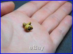 FINE Carving Monkey OJIME Bead NETSUKE 19thC Japanese Edo Antique for INRO
